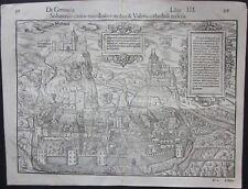 1550 SEDUNENSIS original view Munster Cosmographia Sebastian Münster Sion Sitten