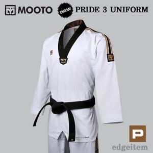 MOOTO Pride 3 Master Uniform KUKKIWON Taekwondo Dobok TKD Tae Kwon Do