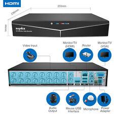 SANNCE 5in1 16CH 1080P HDMI Video Home Security CCTV DVR Recorder Remote Access