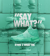 Nike Kyrie 2 What The Green Glow Edition Size 12. 914681-300 Jordan Kobe