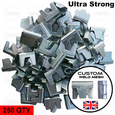 More details for 250qty large wire mesh gabion clips gabion baskets cage making fencing uk made