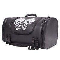 Medium Motorcycle Sissy Bar Bag / Trunk Bag with Skull