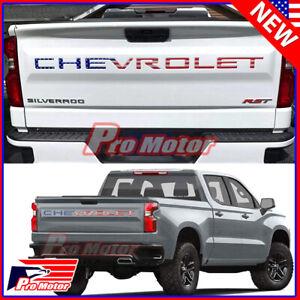For 2019 - 2022 Chevrolet Silverado USA Flag Tailgate Insert Letters 3D Raised
