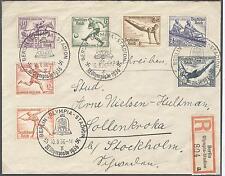 Deutschland 1936 Olympische Spiele Einschr. Brief Olympia-Stadion x