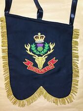 Pipe Banner. Double sided Hand Embroidered (Custom Made).