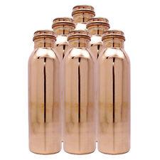 SET of 6 Pcs Indian 100% Copper Water Bottle Natural Ayurvedas Benifit Health