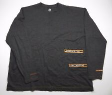 Ski-Doo Snowmobile Racing Dark Grey Longsleeve w/ Orange Accents Men's Size XXL