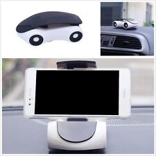 Universal Car Phone Holder Mount Mini Model Car 360° Rotated for Telephone White