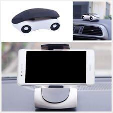 Universal Car Phone Holder Mount Mini Model Car 360° Rotated for Telephone White