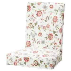 6 x New Original IKEA covers HENRIKSDAL chairs in Videslund Multicolour FLORAL