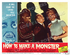 HOW TO MAKE A MONSTER LOBBY SCENE CARD # 8 POSTER 1958 GARY CLARKE CONWAY HARRIS