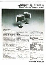 Bose service manual  für 901 Series IV englisch