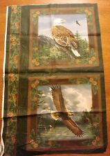 Two Eagle Pillow Panels by Hautman