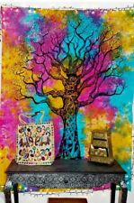 Tree Indian Tapestry Wall Hanging Mandala Multi Hippie Throw Bed Tapestries