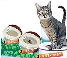 Cat & Kitten Toilet Training Seat Disappearing Litter Tray Box Trainer Hygienic