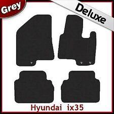 Hyundai ix35/Tucson Mk2 2010-2015 a medida Alfombrillas De Coche De Lujo 1300g Alfombra Gris