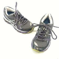 ASICS Gel Kayano 18 gray purple Running Shoes WOMENS SZ 5 NICE!