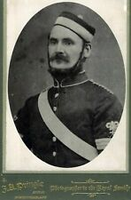 Large CDV Photo SOLDIER MILITARY VICTORIAN Northumberland Percy Artillery Named