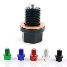 M12x1.50mm Tusk Magnetic Pan Oil Bolt For KAWASAKI KLR650 KLR250 KLR600E Black