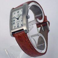 Glycine Herrenuhr Automatik Analog Edelstahl Uhr Leder Armband Datum 3786.14AVS