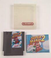 Vintage 1985 NES Super Mario Bros 2 Game Cartridge Instructions Nintendo Case