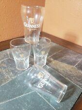 """Guinness Brewed in Dublin Beer Tasting Sampling Sample Glasses 3 7/8"""" Set of 4"""