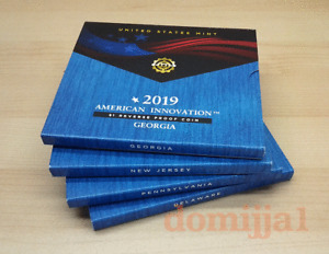 2019-S American Innovation Dollar REVERSE Proof Sets / All 4 in one lot.