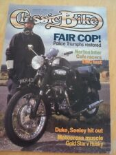 CLASSIC BIKE MAGAZINE JAN 1989 POLICE TRIUMPH NORTON INTER CAFE RACERS DUKE SEEL