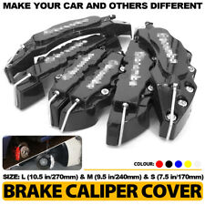 6x Black 3D Brake Caliper Cover Style Disc Universal Car Front Rear Kit L+M+S C3