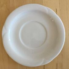 ARZBERG CORSO WHITE SAUCER SCALLOPED EMBOSSED RIM