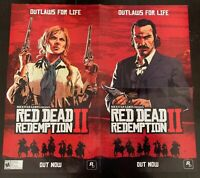 """Rare Red Dead Redemption Poster 2 Sided Poster / 24"""" X 22"""""""