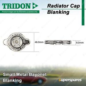 Tridon Blanking Radiator Cap for Nissan Navara D40 Pathfinder R51 Patrol GU