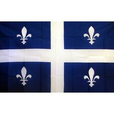 Quebec Flag Banner Sign 3' x 5' Foot Polyester Grommets