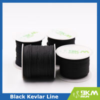 Black Braid Kevlar Line Utility Cord Paracord Camping Tactical made with Kevlar