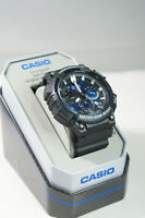 CASIO Mens MCW200H-2ATN Chrono Date Stop Watch Blue Analog Dial 100 Meter Watch