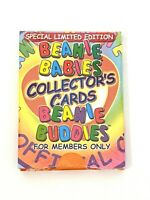 TY Special Limited edition Beanie Babies collectors cards. Beanie Buddies Sealed