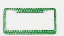 Green Crystal License Plate Frame 7 rows Special Bling Offer