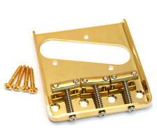 Gold Compensated Brass 3-Saddle Bridge for Fender Telecaster/Tele® TB-5125-002