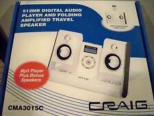 CRAIG White Digital MP3 Audio Player w/speakers CMA3015C