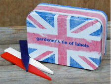 TIN OF UNION JACK PLANT LABELS IN A PRESENTATION TIN BRAND NEW GREAT GIFT
