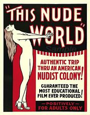 VINTAGE THIS NUDE WORLD MOVIE POSTER A2 PRINT