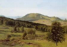 Beautiful Oil painting Landscape Hill and Dale canvas handpainted 36""