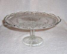 EAPG Yoke And Circle or New Era Glass Cake Stand J.B. Higbee Company Early 1900