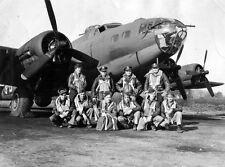 B&W WW2 Photo WWII  B-17 Crew 381th BG World War Two USAAF Europe / 5003