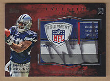 11 2011 Topps Inception DeMarco Murray Laundry Tag Auto RC Autograph 1/1 1 of 1