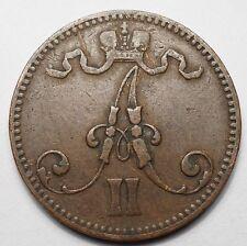 FINLANDE : 5 PENNIA 1865