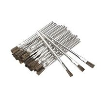 "36 Piece 3/8"" Acid Brush Horsehair Bristle Shop Hobby Brushes Glue Oil Flux"
