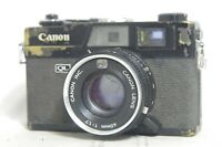 *BLACK* Canon Canonet QL17 Rangefinder Film Camera SN486316 *Needs Repair*