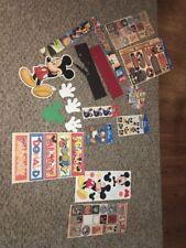 Lot of DISNEY Mickey Mouse Donald Duck Magic Kingdom Scrapbook Stickers Craft