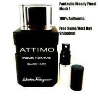 Attimo Black Musk Pour Homme - 5ml or 10ml Decant- Atomizer- SAMPLE